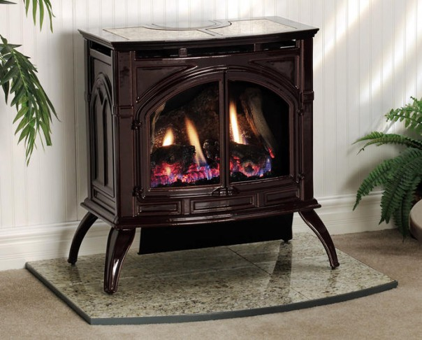 Heritage Cast Iron Gas Stove (Vent-Free or Direct Vent)