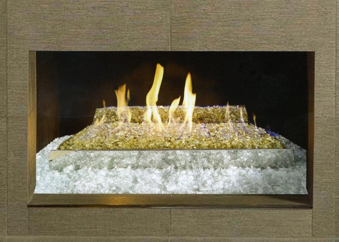 Vent-Free Contemporary Stainless Steel Glass Burner