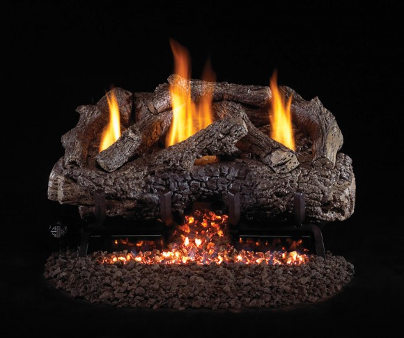 Charred Frontier Oak Vent-Free Gas Logs