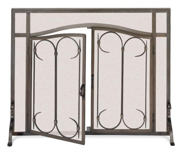 Iron Gate Screen with Doors