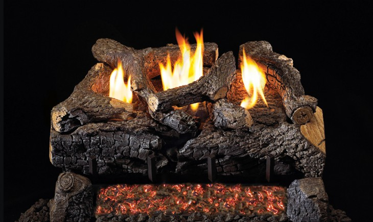 Evening Fyre Charred Vent-Free Gas Logs