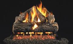 Charred Oak Vented Gas Logs
