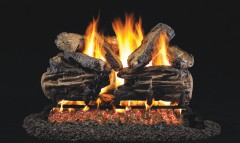 Charred Split Oak Vented Gas Logs