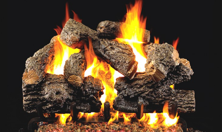Charred Royal English Vented Gas Logs