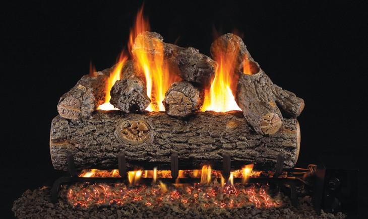 Golden Oak Designer Vented Gas Logs