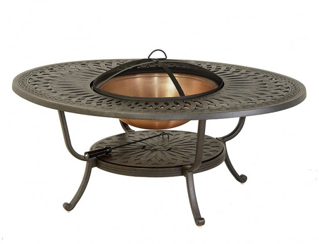 "Mayfair 39"" x 52"" Wood Oval Fire Pit"